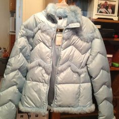🔴Brand NEW- girls jacket. (Regular $78) ☃Brand new with tags- light blue jacket. FIRM ON PRICE Jackets & Coats
