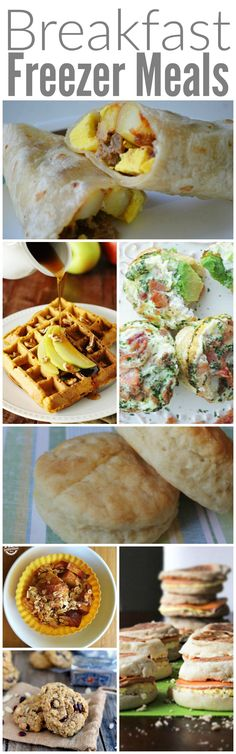 Breakfast Freezer Meals! If you are an on the go family looking for quick and easy meal ideas. These are perfect for starting your day!