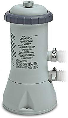 Amazon Com Intex Krystal Clear Cartridge Filter Pump For Above Ground Pools 1000 Gph Pump Flow Rate 110 120v Pool Filters Stock Tank Stock Tank Pool Filter