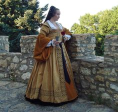18 Plus Renaissance Anne de Pisseleu Tudor Elizabethan SCA Dress Gown Costume | eBay