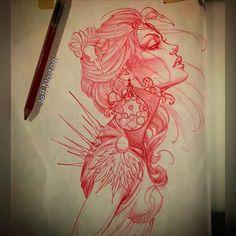 Sketch for tomorrow #sketch #tattoo #jeffnorton