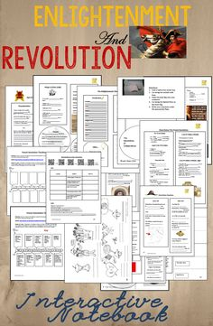 This is a complete interactive notebook for Unit 7: Enlightenment and Revolution. It includes 71 pages of handouts and lesson plans, and 160 slides of PowerPoint presentations plus a link to one of my Prezis. It is a complete organizational structure for the 7th unit of a world history class.