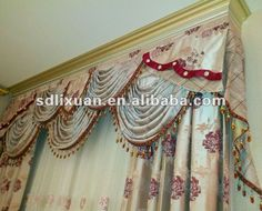 Living Room Home Curtain With Valance Set - Buy Curtain,Home Curtain,Drape Curtain Product on Alibaba.com