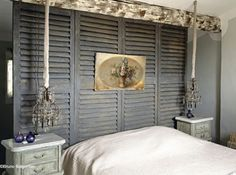 DIY Shutter wall cloison persienne : want the same !