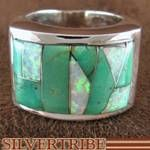 Whiterock Eagle Spirit Genuine Sterling Silver Turquoise And Opal Ring Size 12 Jewelry RS34737