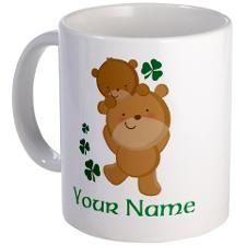 Personalized Irish Bears Mug for
