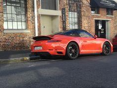991.2 Porsche Targa GTS in Lava Orange Parked outside [OC] [4160 x 3120] via Classy Bro