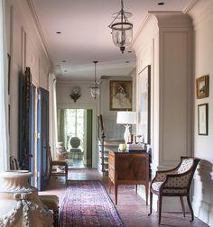 Interior designer Lee Pruitt, Memphis. Love the brick floor