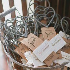 DIY Wedding Heart Sparklers