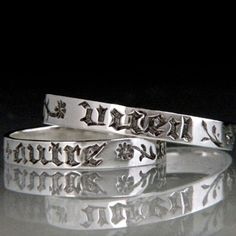 engraved in period French in a blackletter Gothic script, typical of the period and decorated with sprays of flowers. The appealing sentiment speaks to us today across many centuries.  #ValentinesDay #valentine #gift #jewelry #ring #French #love