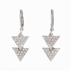 Touchstone Crystal by Swarovski ~ Pave Triangle Earrings ~ Order yours: www.touchstonecrystal.com/deannawhirley
