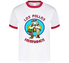 Los Pollos Hermanos T Shirt Breaking Bad, Gifts For Friends, Bucket, Tasty, Mens Tops, How To Make, T Shirt, Stuff To Buy, Sisters