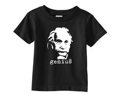 If your little baby is a little scientist, you must own this Albert Einstein t-shirt!  LISTING INCLUDES: Cotton baby t-shirt with Einstein print.  FEATURES: - Unisex Rabbit Skins 5.5 oz, 100% cotton jersey knit (Heather is a 90/10 cotton/polyester blend) baby t-shirt - 4 sizes available - colors available - Shoulder-to-shoulder taping - Rib crewneck  HOW TO ORDER: 1) Choose baby t-shirt you like 2) Choose size and color from drop down menu 3) Click Add to Cart  You can see examples ... Nephew Gifts, Boxer Dogs, Toddler Girl Outfits, Baby Dogs, Unisex Baby, Baby Bodysuit, Baby Wearing, New Baby Products, Month Colors