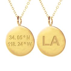 LA Coordinates Necklace