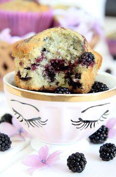 Receta de muffins de mora