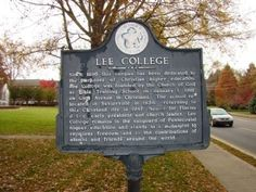 Lee College Marker. Click for full size.