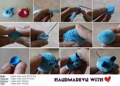 Da FB (Hai Yen) Here is the tutorial for mini 3D-mouse, based on Manuela Koosch's idea. Hope it helps you a lot ^_^     — con Quilling Topping, Sf Ong, Arta Quilling, Khanh Linh, Trang Phạm, Pham Hungdung, Manuela Koosch, ChauKhangshop Quilling, Quilling Catherine, Huy Hoang Phung e Alberta Neal Quilling