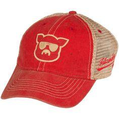 3ded8cddaeaef Islanders Pig Face Trucker Hat Mesh Snapback Vintage Feel