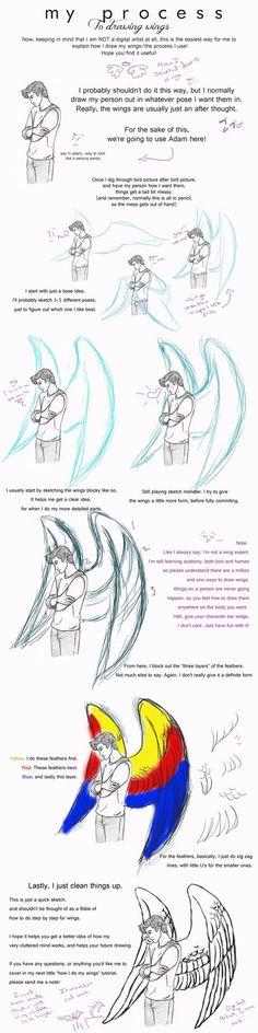 How I draw Wings pt. 3 (My Process) by jackofalltrades0097.deviantart.com on @DeviantArt