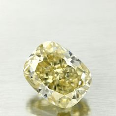 2.85 Carat Fancy Light Yellow Color Cushion Diamond, VVS1, GIA Certified from Enchanted Diamonds