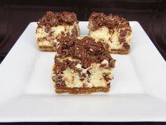 Toblerone cheesecake bars