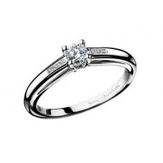 Tu es le Sel de ma Vie N.1 Ring  Tu es le Sel de ma Vie - 18k white gold ring - with 0.15cts diamond and pave diamonds