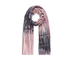 LADIES STRIKING GREY PINK CREAM ABSTRACT PRINT OVERSIZED  SCARF WRAP
