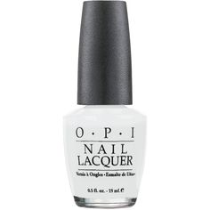 O.P.I Nail Polish in Alpine Snow 15ml ($19) ❤ liked on Polyvore featuring beauty products, nail care, nail polish, nails, beauty, makeup, fillers, white nail polish, opi nail care and opi nail color