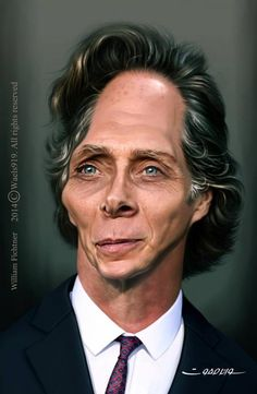 William Fichtner by wael safwat Funny Caricatures, Celebrity Caricatures, Celebrity Drawings, Caricature Artist, Caricature Drawing, Drawing Art, Cartoon Faces, Funny Faces, Dope Movie
