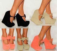 Туфли с бантиком на платформе