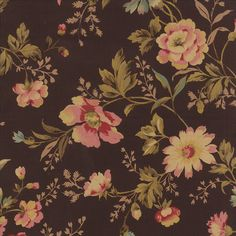 HEARTS CONTENT 3 yds Chocolate Brown Shabby Floral quilt fabric Edyta Sitar roses Moda Laundry Basket Quilts 3 full yards 42186-13 (32.97 USD) by melodyoftheheart