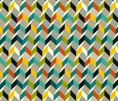 zigzag fabric by kaeselotti on Spoonflower - custom fabric- pretty expensive, like twenty bucks a yard...