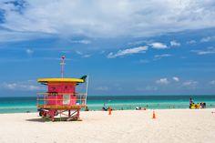 USA har selvfølgelig mange flotte strande, men den mest kendte er nu Miami Beach, hvor der er fest, farver og skønt vand!