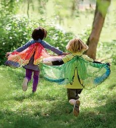 Fanciful Butterfly Wings, Girl's Butterfly Wings - Magic Cabin, inspiration for DIY with sheer curtain?