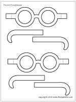 Round eyeglasses template
