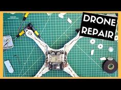 Phantom Four Repair | Camera, Frame & Landing Gear Replacement - YouTube