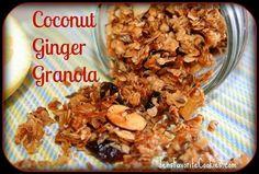 Coconut Ginger Granola, #Coconut, #Ginger, #Granola