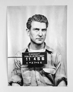 I wanted to blow up a Mick Jagger mug shot into poster size but I can't find one that's hi res enough. He'll do, though. Mug shot poster from original police department negative, 1955.