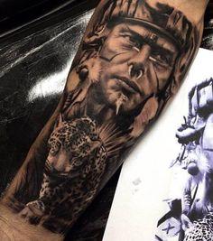 Native Indian Tattoos, Native American Tattoos, Jaguar Tattoo, Mayan Tattoos, Mexican Art Tattoos, Leopard Tattoos, Aztec Tattoos Sleeve, Aztec Warrior Tattoo, Mexico Tattoo