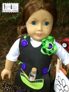 Camp Doll Diaries – Make an Art Apron for your Dolls