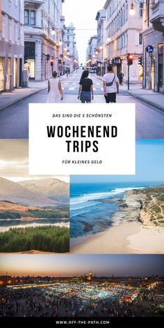 Kurz raus aus dem Alltag und rein in das Abenteuer! Mit diesen 5 günstigen Woch… Out of the ordinary and into the adventure! With these 5 cheap weekend trips, there's nothing in the way of your short trip adventure. Europe Destinations, Europe Travel Tips, Travel Goals, Places To Travel, Budget Travel, Travel Hacks, European Travel, Voyage Dublin, Voyage Europe