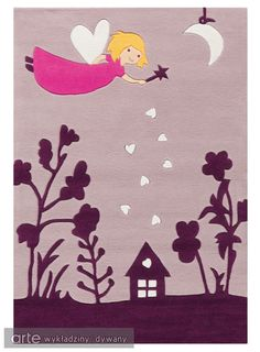 Dywan Arte Espina Spirit Glowy 3094 44 www. Carpets For Kids, Childrens Rugs, Kids Line, Boutique Deco, Tapis Design, Kids Bedroom Furniture, Cool Rugs, Kids Room, Fairy