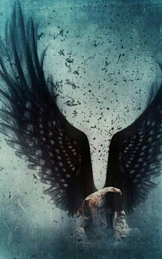 Castiel ~ Supernatural Fan Art ~ This is so beautiful. It always makes me feel so sad for Castiel, gah, so many feels. Supernatural Fans, Supernatural Wallpaper, Supernatural Background, Dark Fantasy, Fantasy Art, Fantasy Romance, Shadowhunters, M Anime, Ange Demon