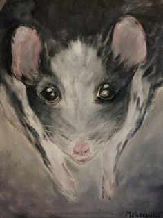 Rat Oil Painting