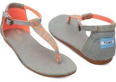 Neon Denim Vegan Women's Playa Sandals