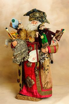 Artist Santa  Santa Claus  Christmas Holiday by manymonkeys, $1295.00