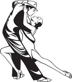 Illustration of Dance pair in tango passion isolated over background vector art, clipart and stock vectors. Shakespeare Portrait, Dancer Drawing, Tango Dancers, Line Art Vector, Dance Images, Art Deco Posters, Black And White Illustration, Dance Art, Body Painting