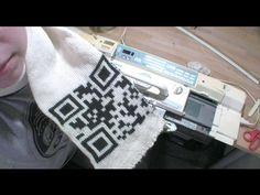 Machine-Knitted QR Code Scarf