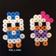 Donald and Daisy Duck perler beads by crafty_k_creations