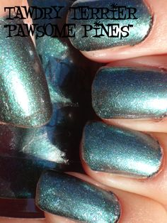 """@TawdryTerrier """"Pawsome Pines"""" in the sun - available at https://www.etsy.com/shop/TawdryTerrier #nailpolish #indienailpolish #tawdryterrier"""